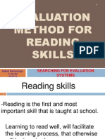 Homework 2 Evaluation Method for Reading Skills 5-5-12