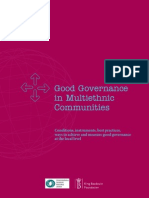 Good Governance Multi Ethnic Communities