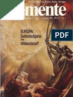 ELEMENTE fur die europaische Wiedergeburt - Issue 1