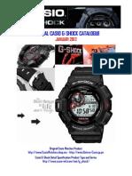 Original Casio Gshock Catalogue - Januari 2012