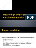 Measuring Value of Employee Relation Retention