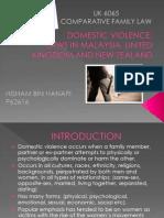Domestic Violence Uk, Nz, My