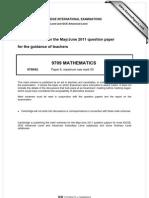 math 9709_s11_ms_62