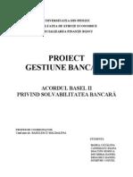 Proiect Gestiune Bancara - Acordul Basel II
