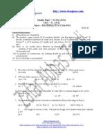 244Sample Paper 1 2012