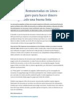 Encuestas Remuneradas en Línea – Método seguro para hacer dinero consiguiendo una buena lista