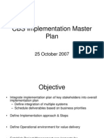 CBS Implementation Master Plan PSC 25 Oct