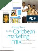 Adding Flavor to Caribbean Marketing Mix