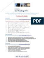 2012 AGM Positions