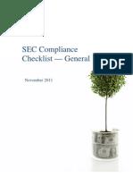 SEC Compliance Checklist - General