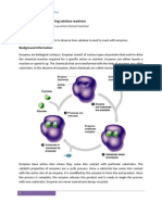 An Experiment Investigating Catalyze Reactions