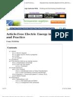 Free Electric Energy Latest