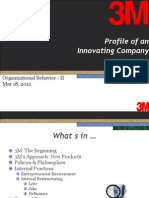 Lessons Learned at 3M: Profile of an Innovating Company