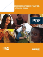 2006 UNIFEM Training Manual