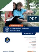 Informator 2012 - studia I stopnia - Wyższa Szkoła Bankowa we Wrocławiu