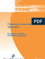 Coe Rexecode Doc Travail 30 Perspectives Economiques 2012 13 Mars 2012