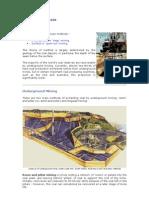 Coal Mining - Overview Methods