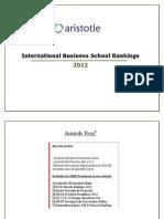 International MBA Rankings 2012