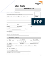 World Vision Application Form