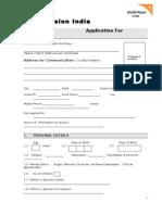 World Vision Application Form