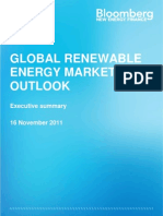BNEF Bloomberg New Energy Finance Global Renewable Energy Market Outlook