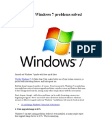 22 Common Windows 7 Problems Solved