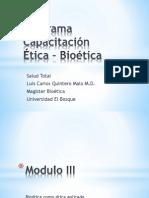 Modulo III Bioetica Como Etica Aplicada