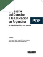 EL DESAFIO DEL DERECHO A LA EDUCACIÓN EN ARGENTINA