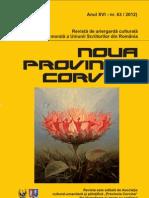 Noua ProVincia Corvina, Nr.63, 2012