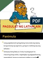 PAGSULAT NG LATHALAIN