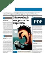 Cómo reducir sus gastos de impresión