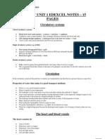 Biology Unit 1 Edexcel Notes