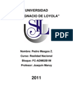 Ensayo - Los Jovenes en El Peru Del Siglo Xxi