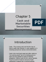 CHAP 5- Cash & Marketable Securities Mgt