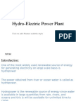 Hydro-Electric Power Plant Lecture