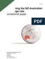 Explaining the Nz-Australian Exchange Rate