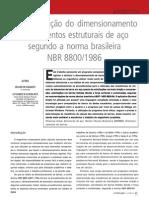 AUTOMAÇÃO DO DIMENSIONAMENTO DE ELEMENTOS ESTRUTURAIS DE AÇO SEGUNDO A NORMA BRASILEIRA NBR