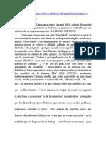 QUE PASA EN CHILE CON LA MÚSICA DE RAIZ FOLKLÓRICA