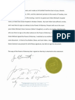 John Bennet Sworn Statment