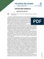 BOE Real Decreto-ley 17/2012, de 4 de mayo, de medidas urgentes en materia de medio ambiente.