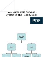 Autonomic Nervous System in the Head & Neck