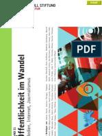 Öffentlichkeit im Wandel - Medien, Internet, Journalismus - Schriften zu Bildung und Kultur, Band 11