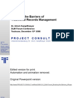 [EN] Breaking the Barriers of Traditional Records Management | DLM Forum Conference Toulouse 2008 | Ulrich Kampffmeyer