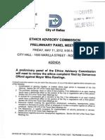 EAC Preliminary Panel Meeting Rawlings 05-11
