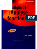 Pratique de l'Analyse Fonctionnelle