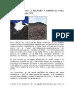 BOLIVIA YA TIENE SU PROPUESTA AMBIENTAL PARA LA CUMBRE CLIMÁTICA