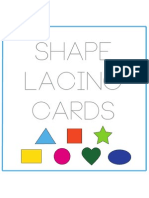Shape Lacing Card Cover