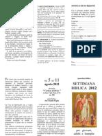 Settimana Biblica 2012