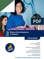 Informator 2012 - studia II stopnia - Wyższa Szkoła Bankowa w Gdańsku