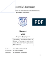 Conception Antenne WIFI -Microruban -HFSS_Methodologie De Recherche